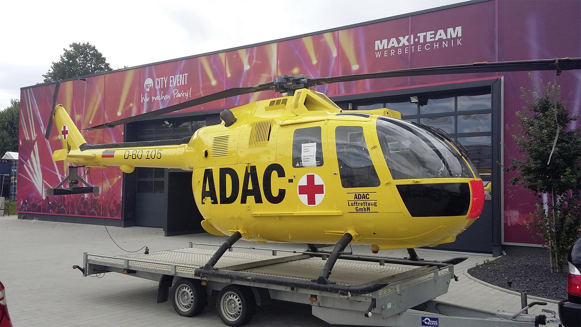 ADAC Hubschrauber Folierung
