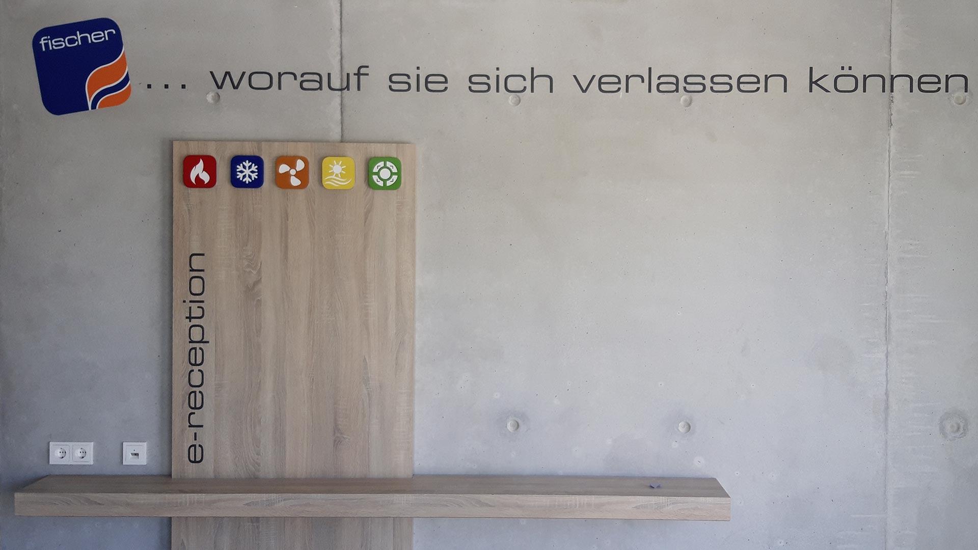 Wandbeschriftung Innen